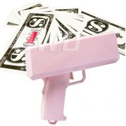 Money gun geld pistool cash cannon | Moneygun | Cashgun | Cashcannon | Geldpistool - inclusief nep geld - Roze