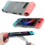 beschermende soft cover voor de Nintendo Switch - goede case met betere grip voorkomt ook kramp aan de hand - transparant