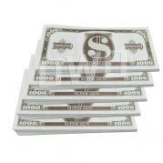 Money gun geld pistool cash cannon - geld biljetten - 1000 dollar - 250 biefjes