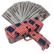 Money gun geld pistool cash cannon | Moneygun | Cashgun | Cashcannon | Geldpistool - inclusief nep geld - AMERICAN FLAG