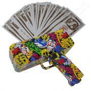 Money gun geld pistool cash cannon | Moneygun | Cashgun | Cashcannon | Geldpistool - inclusief nep geld - GRAFFITI