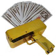 Money gun geld pistool cash cannon | Moneygun | Cashgun | Cashcannon | Geldpistool - inclusief nep geld - GOUD